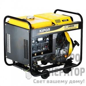 Свароный дизельный генератор KIPOR KDE5000XW