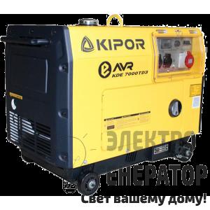 Дизельный генератор KIPOR KDE 7000TD3